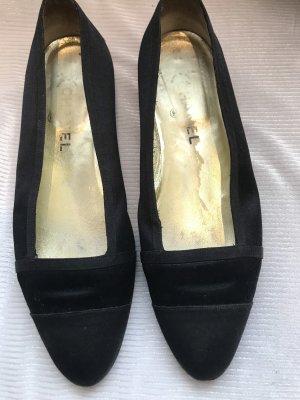 Chanel Ballerina's met kant zwart