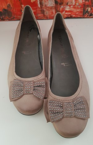 Tamaris Mary Jane Ballerinas camel
