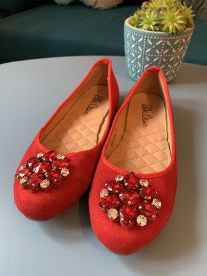 Ella Cruz Ballerinas with Toecap red