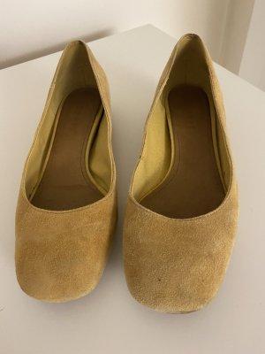 Ballerina Esprit Gr.38 echt Leder gelb