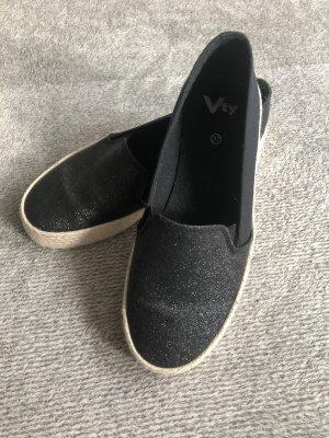 VTY Sandalias de playa negro-marrón