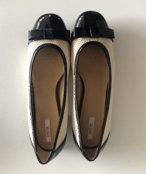 Geox Patent Leather Ballerinas black-cream