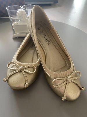 Ballerina Gold Gr. 37 (hat einen kleinen Fleck) Neu