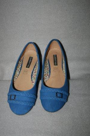 Ballerina Gr. 39 blau von Queentina - wie neu