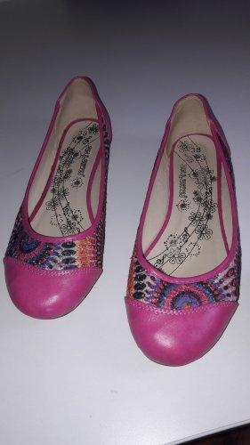 Bailarinas con tacón Mary Jane rosa