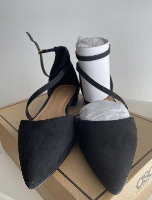 Asos Ballerines à lacets noir