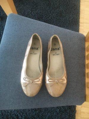 Jana Ballerina di pelle verniciata oro-bronzo