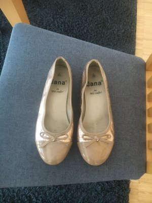 Jana Patent Leather Ballerinas gold-colored-bronze-colored