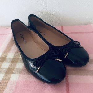 Tamaris Ballerines en cuir verni noir