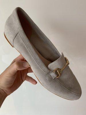"Ballerina/Loafer der Marke ""Office London"" via Asos, Gr.41, Hellgrau, Neuwertig"