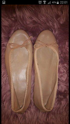 Mango Basics Ballerina aperta sul tallone albicocca