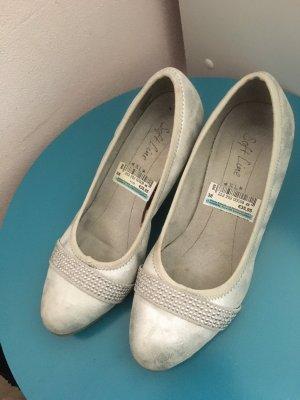 Patent Leather Ballerinas light grey