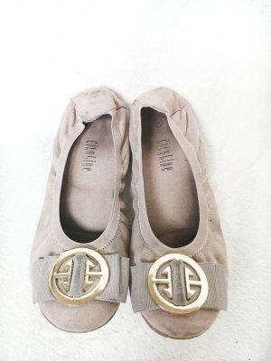 CityLine Foldable Ballet Flats gold-colored-dusky pink