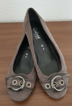 Gabor Classic Ballet Flats grey leather