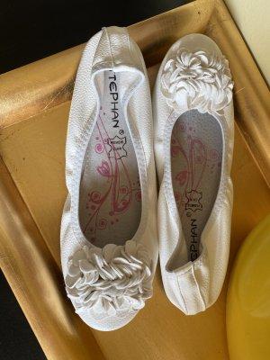 Stephan Ballerina pieghevole bianco sporco Pelle