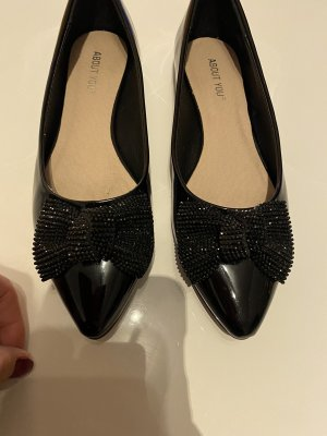 About You Patent Leather Ballerinas black