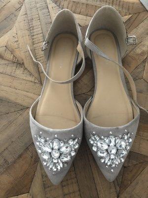 New Look Ballerina's met bandjes lichtgrijs