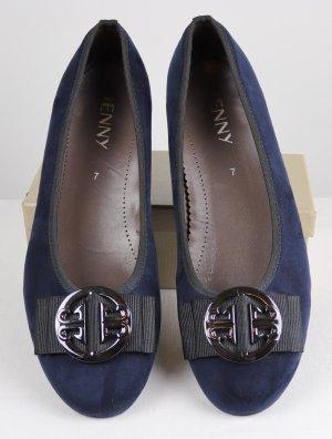 Jenny Loafers donkerblauw-blauw Textielvezel