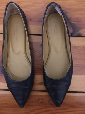 Liebeskind Ballerina's met kant zwart