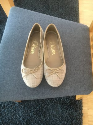 s.Oliver Patent Leather Ballerinas gold-colored-cream