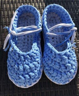 Handmade Slipper Socks cornflower blue