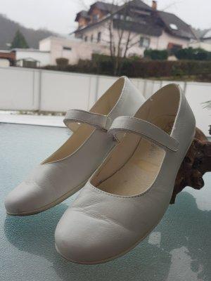 Ballerina's met bandjes wit