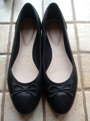 Clanks Lakleren ballerina's zwart