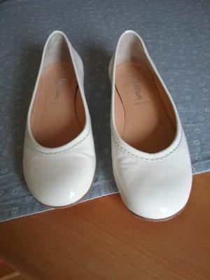 Voltan Bailarinas con tacón Mary Jane blanco puro