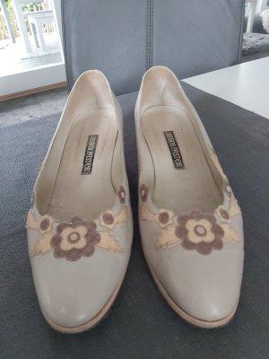 Andrea Pfister Ballerina's met kant licht beige