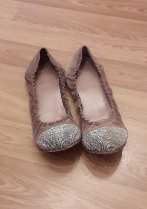 Brunello Cucinelli Foldable Ballet Flats silver-colored-grey brown