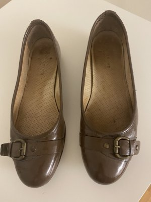 Liebeskind Patent Leather Ballerinas grey brown leather