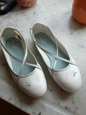 Puma Ballerines à lacets blanc