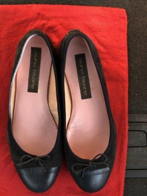 Foldable Ballet Flats dark blue