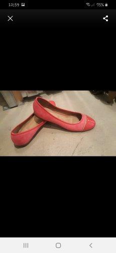 Ballerina di pelle verniciata rosa