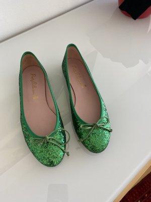 Pretty ballerinas Ballerina di pelle verniciata verde