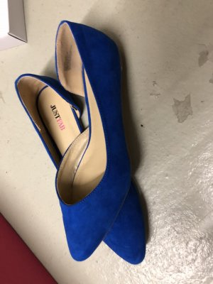 Just Fab Ballerinas with Toecap neon blue-blue