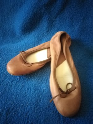 Fred de la bretoniere Mary Jane Ballerinas brown