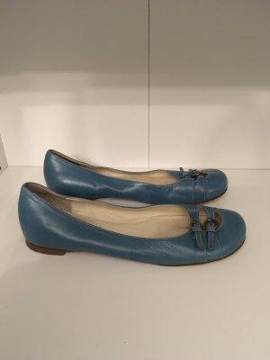 Miu Miu Slingback ballerina's blauw-cadet blauw