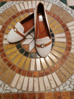 keine Zapatos formales sin cordones blanco