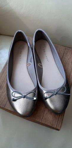 Primark Patent Leather Ballerinas silver-colored