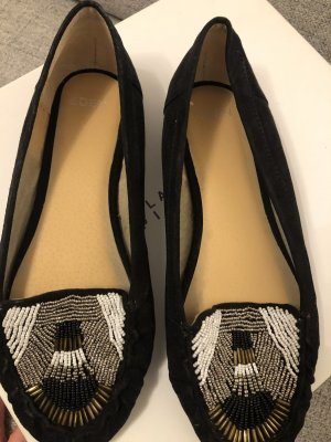 Eden Ballerines à lacets noir
