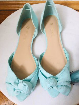 Promod Ballerines à bout ouvert turquoise