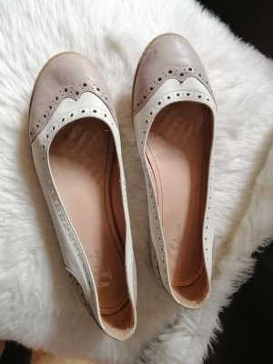 Lav. Artigiana Ballerina Mary Jane marrone chiaro-beige