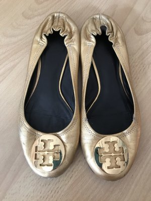 Tory Burch Patent Leather Ballerinas gold-colored