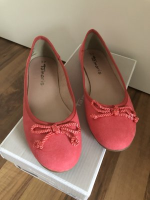Tamaris Mary Jane Ballerinas salmon