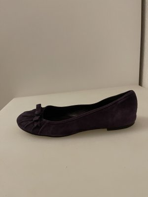 Twin-Set Simona Barbieri Bailarinas sin talón violeta oscuro-lila
