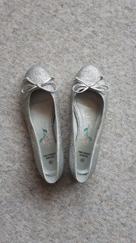Donna Christina Ballerinas with Toecap silver-colored