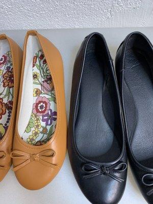 bpc bonprix collection Bailarinas de charol con tacón naranja-negro