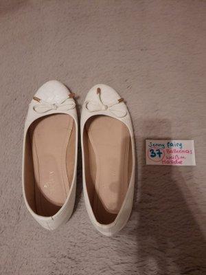 Jenny Fairy Ballerina di pelle verniciata bianco