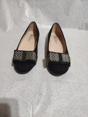 Ella Cruz Ballerines à lacets noir